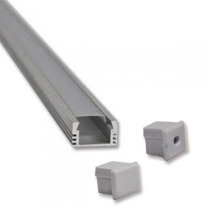Flat LED strip aluminum channel