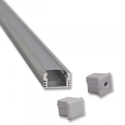 Flat LED strip aluminum channel