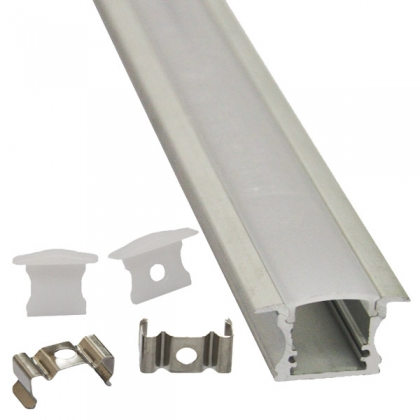 Flush LED channel housing